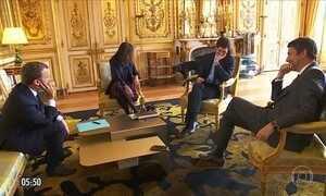 Cão interrompe reunião entre Emmanuel Macron e ministros na França