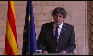 Líder catalão Carles Puigdemont descarta convocar novas eleições