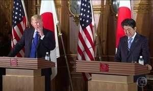 Trump viaja para a Ásia para falar da tensão com a Coreia do Norte e de acordos comerciais