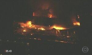 Incêndio atinge galpão nos Estúdios Globo