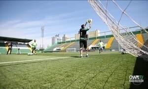 Jogador da Chapecoense relembra rotina em treino na Arena Condá