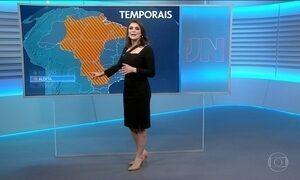 Confira a previsão do tempo para a terça-feira (9) em todo o país