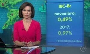 Economia brasileira cresce 0,49% em novembro