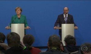Angela Merkel fecha acordo para formar um governo de coalizão na Alemanha