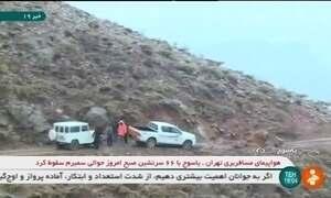 Avião com 65 pessoas a bordo cai na região central do Irã