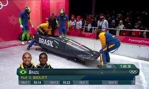 Brasil encerra primeira participação olímpica no bobsled para dois atletas