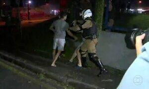 Chamada: confronto entre agentes e manifestantes pró Lula em Curitiba deixa 9 feridos
