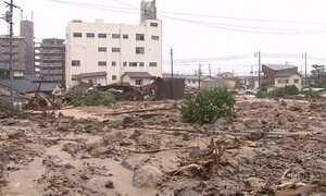 Chuvas torrenciais deixam 88 mortos e dezenas de pessoas desaparecidas no Japão