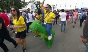 Em Moscou, torcedores de vários países entram no clima da final da Copa