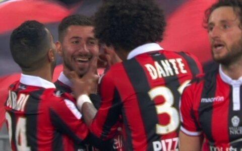 Pelo Francês, Nice derrota  o Montpellier e encosta  no líder Monaco