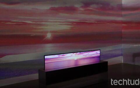 LG Signature OLED TV R: TV enrolável de 65 polegadas é destaque na CES 2019