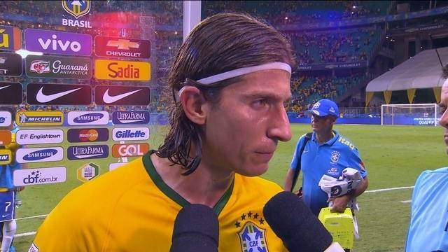 Filipe Luís diz que Brasil está encontrando melhor forma de jogar