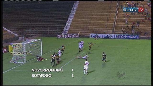 Bota leva gol no último minuto e empata com Novorizontino no Paulistão
