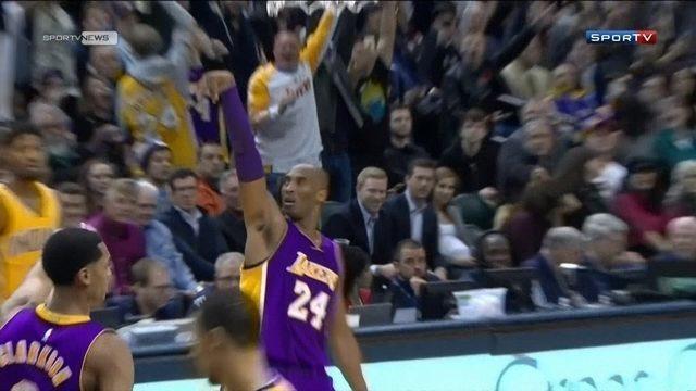 Kobe joga bem, mas LA Lakers perdem  para o Indiana Pacers em Indianápolis