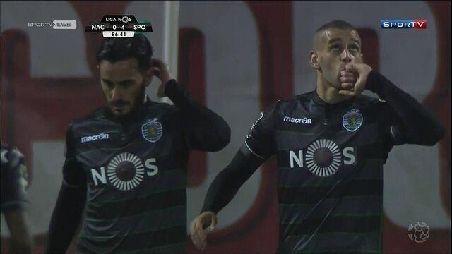 Sporting goleia Nacional no Português e  se mantém na liderança no campeonato
