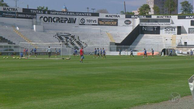 Após derrota para São Paulo, Ponte volta aos treinos de olho no Sport