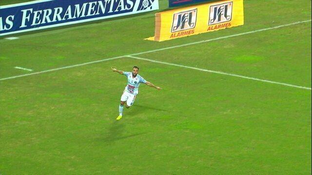 Gol do Operário! Felipe Augusto dá toquinho de primeira e abre o placar, aos 13' do 1ºT