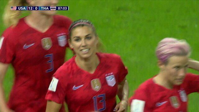 Os gols de Estados Unidos 13 x 0 Tailândia pela Copa do Mundo de futebol feminino