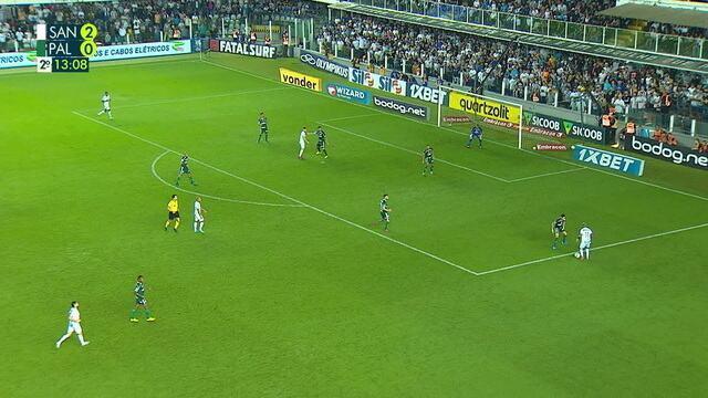 Melhores momentos de Santos 2 x 0 Palmeiras pela 24º rodada do Brasileirão 2019