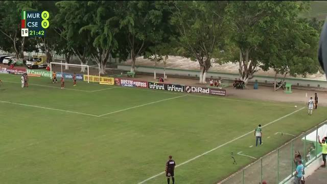 Gol do Murici!!! Aos 21' do 1T em jogada ensaiada Etinho desvia e Deysinho marca