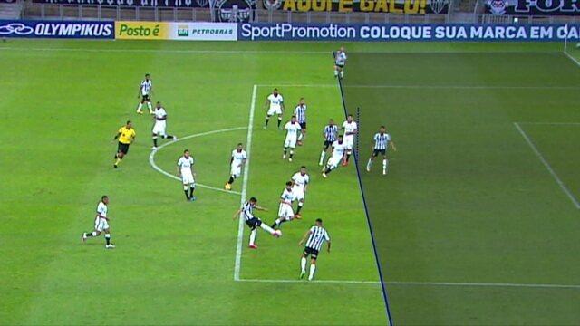 Confira a tecnologia usada pelo VAR para anular o que seria o 4º gol do Atlético-MG