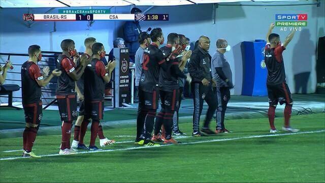 Veja os gols do empate entre Brasil de Pelotas 1 x 1 CSA