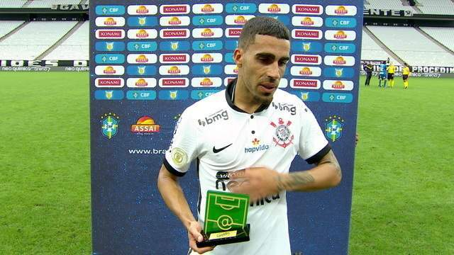 """Eleito craque do jogo, Gabriel lamenta empate sem gols com o Vasco: """"Tentamos, corremos, mas sabíamos que ia ser duro"""""""