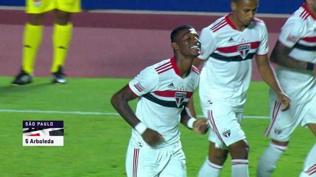 Melhores momentos: São Paulo 5 x 1 São Caetano, pela 11ª rodada do Campeonato Paulista