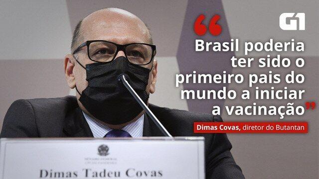 Sem 'percalços' no contrato com governo, país teria sido primeiro a  vacinar, diz Dimas Covas à CPI | Política | G1