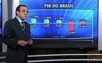 Carlos Alberto Sardenberg fala sobre os números do PIB do Brasil - O comentarista Carlos Alberto Sardenberg acredita que o resultado do PIB no primeiro trimestre de 2009 foi ruim. Para ele, o Brasil está melhor que alguns países, mas pior que outros.