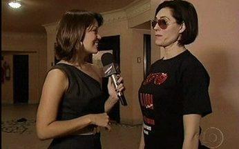 A estreia do quadro Vídeo Show em Cena - Novo quadro do Vídeo Show revela os bastidores do espetáculo ´A Loba de Ray Ban´ com Christiane Torloni.