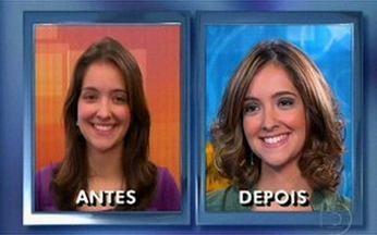 Telespectadora vira Judite de 'Escrito nas Estrelas' - Luiza ficou bem parecida com a atriz Carolina Kasting.