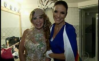 Elba Ramalho e Ivete Sangalo agitam o pré-carnaval de Recife - Cantoras levaram uma multidão ao delírio