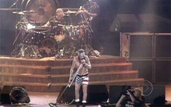 Melhores momentos da segunda edição do Rock in Rio, em 1991 - Na época, os shows do festival foram dentro do Maracanã