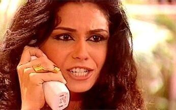 Jade tem discussão séria com Lucas ao telefone - Lucas diz que está com problemas com a filha e acha melhor conversar com Jade quando ela chegar. Jade pergunta se ele está recuando, o chama de mentiroso, desliga o telefone e diz para Zoraide que nunca mais quer falar com ele.