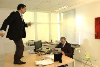 Sapateador como foi gravar vinheta de Você é o dono - Luiz Balquião filmou a abertura da série do Fantástico com Max Gehringer que estreou no último domingo (2).