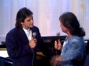 Direto do Túnel do Tempo o dueto de Roberto Carlos e Fábio Jr. em especial - Em 1992, foi exibido o show do cantor no Rio de Janeiro