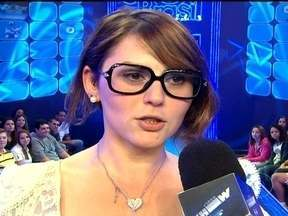 Bruno de Luca entrevista Mayara, eliminada do BBB 12 - Sister saiu da casa com 74% dos votos