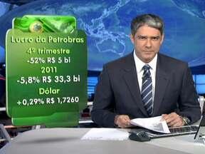 Preocupação com a Grécia afeta mercado financeiro - As bolsas de valores caíram na Europa e em Nova York. No Brasil, a queda das ações Petrobras prejudicou a Bovespa. A cotação do dólar subiu para R$1,726.