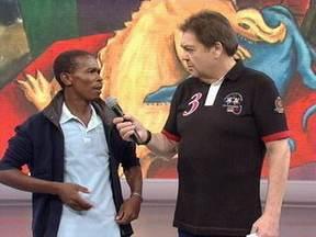 Domingão presta homenagem à sobrevivente de desabamento no Rio - Alexandro Silva visitou pontos turísticos do Rio de Janeiro