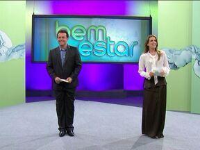 Os bastidores do aniversário de um ano do programa Bem Estar - A atração é apresentada por Mariana Ferrão e Fernando Rocha