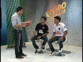 Futebol na tela e no gramado - Jogadores de futebol na novela Avenida Brasil, atores Bruno Gissoni e Daniel Rocha disputam jogo promocional com os melhores do futebol amador de Curitiba