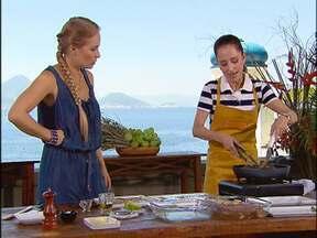 Ana Botafogo mostra seu talento na cozinha - A bailarina preparou musse de maracujá e atum com gengibre