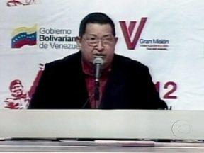 Presidente da Venezuela ameça estatizar empresas e bancos que apoiem oposição - Hugo Chávez vai tentar mais uma reeleição em outubro e alega que os opositores estariam planejando atos de violência. Ele disse que recebeu a informação de que alguns bancos estariam financiando esses grupos.