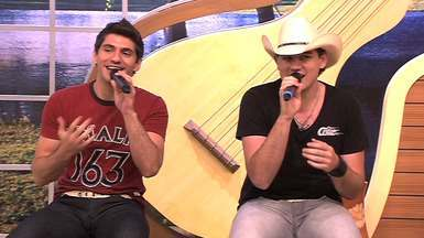 A dupla sertaneja Thales e Vicente é uma das atrações musicais do programa - Os irmãos são cuiabanos e se destacam na música sertaneja. Eles cantam uma das mais pedidas em seus shows.