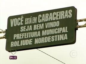 Veja como foi a viagem da equipe de reportagem até Cabaceiras - Nádia chega ao destino e conversa com moradores da cidade
