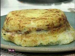 Aprenda a fazer a receita da Elaine: Batata recheada com carne sol - Quadro Tem que ir na Ana Maria recebe a goiana Elaine