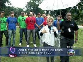 Ana+20: apresentadora dá troco em Louro José - Em brincadeira, ela deixa o papagaio furioso