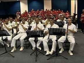 Banda dos Fuzileiros Navais apresenta vinheta do Globo Esporte - Banda dos Fuzileiros Navais apresenta vinheta do Globo Esporte
