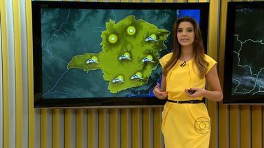 A terça-feira (17) é de tempo ameno e chuva em parte de Minas Gerais - No Norte e Noroeste do estado, a tarde fica quente e seca.